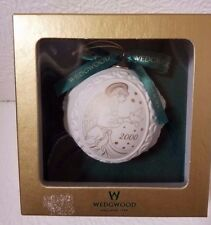 Wedgewood 2000 Ball Ornament With Angel And Dove Made In England Nib