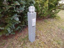 LED Gartenlampe Granit  Wegeleuchte echter Stein 230 V Steinleuchte Außenleuchte