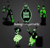 2020 Disney Parks Exclusive Haunted Mansion Glow in the Dark Ornament Set