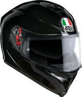 Casco integrale moto Agv k-5 K5 s pinlock Black Nero lucido