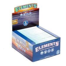 50 ELEMENTS King Size *full Box* Slim Ultra Thin Rice Rolling Papers 110mm