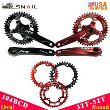 32-52T MTB Bike Crankset 170mm Crank 104bcd Chainring Narrow Wide Chainwheel CNC