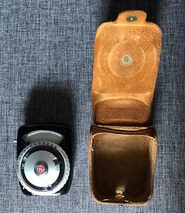 Vintage 1950's GE Guardian Exposure/Light Meter Type PR-2 w/ Leather Case