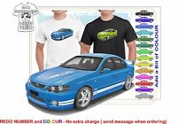 CLASSIC 2002-07 BA FPV FALCON SED ILLUSTRATED T-SHIRT MUSCLE RETRO SPORT CAR