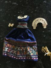 Barbie Mattel Tag Dress Clothes Accessories Gladiator Shoes Hair Piece