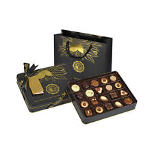 (2 PACK) Assorted Chocolate Pralines In Tin Box (250g / .55lb) With Gift Bag