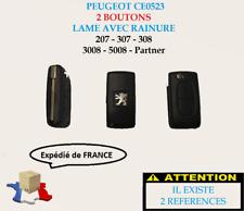 Coque clé boitier 2 boutons Peugeot 207,307,308,3008,5008...(réf:CE0523)