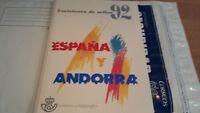 ESPAÑA Y ANDORRA 1992 LIBRO COMPLETO**OFERTA ÚNICA Y ESPECIAL.DIFÍCIL CONSEGUIR.