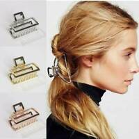 Women Simple Metal Hair Claw Clips Hairband Barrette Crab Clamp Hair Accessories