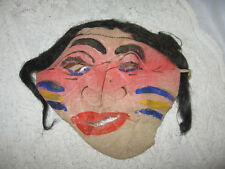 EARLY HALLOWEEN FACE MASK NATIVE AMERICAN INDIAN MALE GAUGE as is