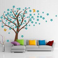 Flower Tree Wall Sticker Inspiration Vinyl Nursery Bedroom Removable Art Decor