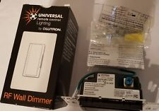 NEW Universal Remote Control RF Wall Dimmer by Lutron MRFB-6MLV-URC-BL