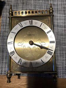 Unusual Vintage West German Eurastyle Quartz Mantel Carriage Clock -Working