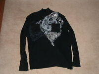 Pre Owned Men's Black INC International Concepts Sweater -2XL