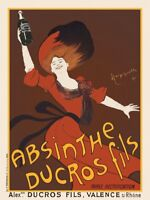 Absinthe Ducros Fils, 1890 Leonetto Cappiello Art Print Vintage Bar Poster 11x14