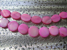 26 Hot Pink Color Mother of Pearl Shell Bead about 15mm PK2-1