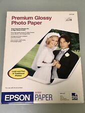 """EPSON Premium Photo Paper Glossy   8.5 x 11""""   BRAND NEW PACK of 20 SHEETS"""