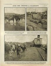 Poilus Soldats Expédition de Salonique Front d'Orient Macédoine Train 1916 WWI