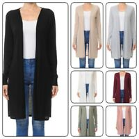 WOMAN LONG SLEEVE DUSTER CARDIGAN WITH SIDE SLIT DETAIL(S-3XL)Plus &  Reg.