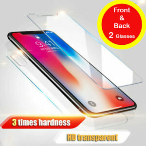 Front And Back Tempered Glass 360 Screen Protector For iPhone 11 Pro Max X XR 6+