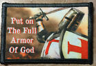 PUT ON FULL ARMOR OF GOD Crusader Knights Templar Morale Patch Tactical Hook USA