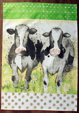 Switzerland Dairy Cow Souvenir 100% Cotton Kitchen Tea Towel