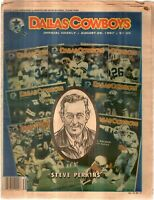 Dallas Cowboys Weekly Newspaper Aug 29, 1987 Article Editor Steve Perkins G