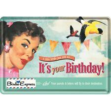 Its ton Birthday Carte postale en tôle/Métal Panneau métallique métal Étain Post