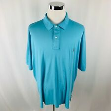 Vintage Polo Ralph Lauren Baby Blue Pima Interlock Polo Shirt Mens 2XLT XXL Tall