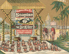 Soapine Trade Card, Gold Fantasy, Sacred White Elephant In The East, Pg 11 Z877