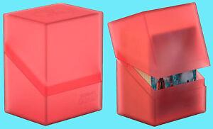 ULTIMATE GUARD BOULDER RUBY Standard Size DECK CASE 80+ NEW Card Storage Box MTG