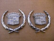 Quarter Panel Chrome Emblem Cadillac DeVille OEM  (((PAIR)))