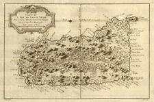 'Carte de l'Isle de Sainte Lucie'. St Lucia. West Indies. BELLIN 1759 old map