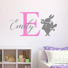 Personalised Alice in Wonderland Wall Sticker Decal Childrens Nursery Bedroom