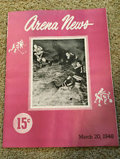 1948 Phila. Arena News program: AHL Hockey Phila. Rockets vs. New Haven Ramblers