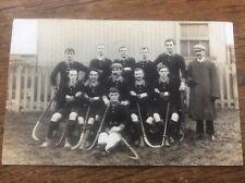 Farnley Leeds Hockey Club Mens Team c1910 RPPC Yorkshire Sporting Memorabilia