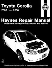 Toyota Corolla 2003 -2008 Workshop Manual Haynes - Download PDF