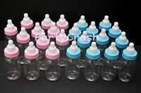 12 Fillable Baby Shower Bottles Favors Party Decoration Pink Blue Boy Girl