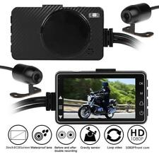 Waterproof Motorcycle DVR Front+Rear View Dual 1080P Camera Recorder No interval