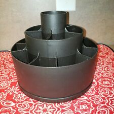 The Pampered Chef Tool Turn About #2171 Black Carousel Utensil Holder Caddy Euc