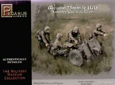 Pegasus 1/72nd Scale WWII German 75mm le IG18 Infantry Gun Model Kit 7510 NEW!