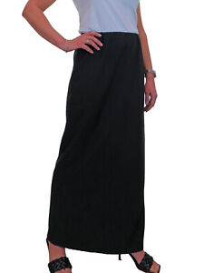 NEW (2239) Stretch Skirt Office Day Black Size 10-22