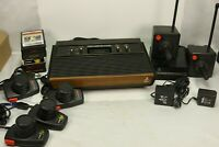 Atari 2600 Console with Games and Assorted Controllers Tested Working