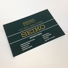 SEIKO KINETIC Multi Languages Watch Instructions Booklet Cal. 5M54 5M62 & 5M63