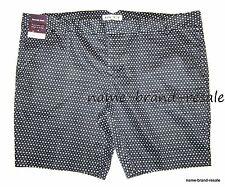 AVA & VIV NWT  Womens PLUS 26W 26 4X Black White Dot BERMUDA Trouser SHORTS  NEW