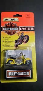 """1993 MATCHBOX MOTORCYCLES 4-1/2"""" YELLOW HARLEY-DAVIDSON SPORTSTER NEW ON CARD"""