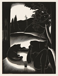 PAUL LANDACRE : Sultry Day : 1937 : Archival Quality Art Print