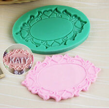 3D Vintage Mirror Frame Silicone Fondant Mould Cake Decorating Sugar Baking Mold