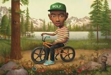 """Tyler the Creator Music Poster 24x36"""" Wolf on a Bicycle 3D Poster"""