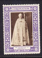"GB 1937 Coronation ""Purple""  Archbishop of Canterbury -  Mint"